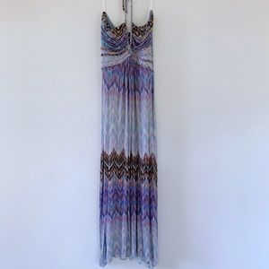 Sky Lahaina Braided Halter Maxi Dress